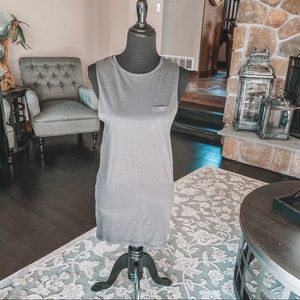 Gray Divided H&M High Low Dress